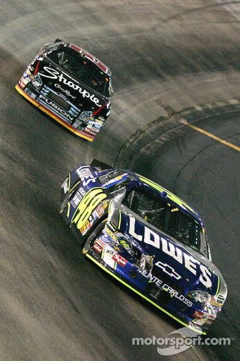 Jimmie Johnson leads Jamie McMurray