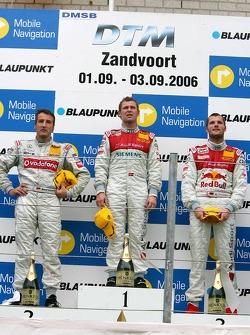 Podium: race winner Tom Kristensen with Bernd Schneider and Martin Tomczyk