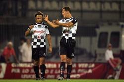 National drivers charity football match at Stadio Brianteo Stadio Brianteo: Michael Schumacher and Felipe Massa