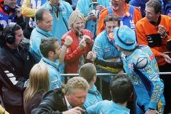 Chris Vermeulen celebrates second place finish