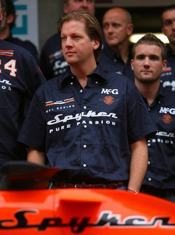 Spyker MF1 Racing photoshoot: Michiel Mol, future Director of Formula One Racing