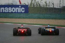 Michael Schumacher overtakes Fernando Alonso