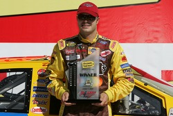 Pole winner David Gilliland celebrates