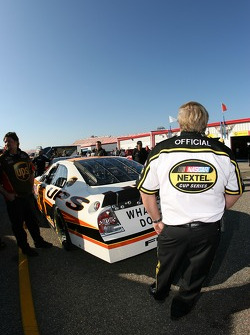 NASCAR official watches the UPS Ford