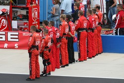 Dodge Dealers/UAW Dodge crew during National Anthem