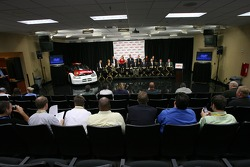 ESPN press conference: the broadcast and production crew for ESPN's coverage of NASCAR