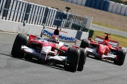 Ricardo Zonta and Michael Schumacher