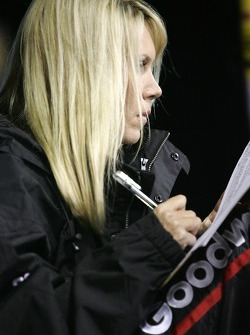 DeLana Harvick watches pitstop action