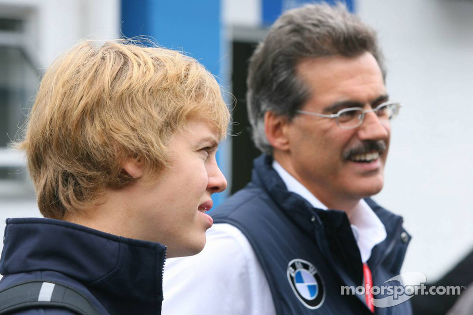 Sebastian Vettel and Dr. Mario Theissen