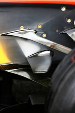 Detail of the McLaren Mercedes MP4-21