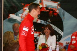 Michael Schumacher walks away from wife Corina, Rolf Schumacher and Barbara Stahl