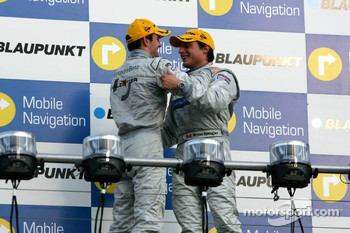 Podium: race winner Bruno Spengler with Jamie Green