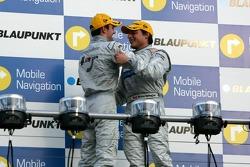 Podium: race winner Bruno Spengler with Jamie Green