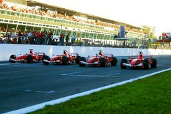 Marc Gene, Luca Badoer, Felipe Massa and Michael Schumacher
