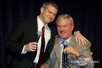 Bobby Labonte gives older brother Terry Labonte a hug