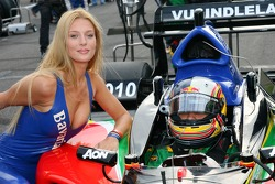 Adrian Zaugg, with his grid girl