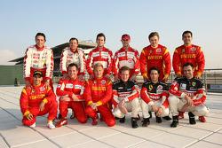 Ferrari drivers photoshoot