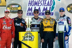 The 2006 NASCAR Chase for the Nextel Cup remaining contenders: Dale Earnhardt Jr.;Denny Hamlin;Kevin Harvick;Matt Kenseth and Jimmie Johnson