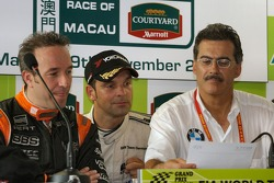 Press conference: Tom Coronel, Jorg Muller, Dr. Mario Theissen