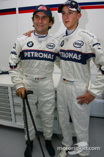 Alex Zanardi and Marco Holzer