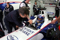 Alex Zanardi and Dr. Mario Theissen, BMW Motorsport Director