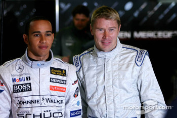 Mika Hakkinen and Lewis Hamilton