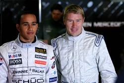 Mika Hakkinen and Lewis Hamilton