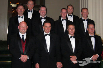 Craftsman Truck Series champion Todd Bodine, Whelen Modified Tour champion Mike Stefanik, Southeast Series champion J.R. Norris, Southwest Series champion Rip Michels; (second row, L-R) Dodge Weekly Series champion Philip Morris, Busch East Series champio