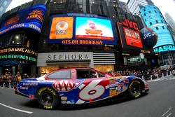 Mark Martin drives through Time Square