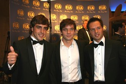Fernando Alonso, Sébastien Loeb and Andy Priaulx
