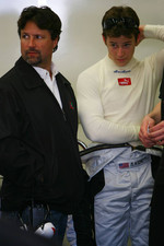 Marco Andretti with his father Michael