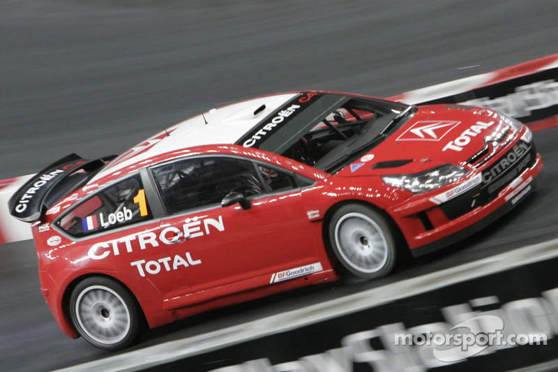 Sébastien Loeb drives the new Citroën C4 WRC
