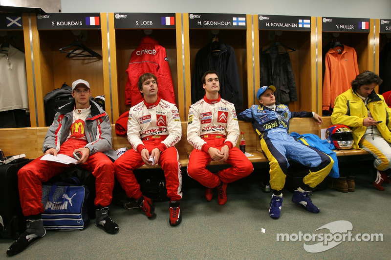 Sébastien Bourdais, Sébastien Loeb, Daniel Sordo, Heikki Kovalainen