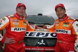Team Repsol Mitsubishi Ralliart shakedown presentation: Pascal Maimon and Hiroshi Masuoka