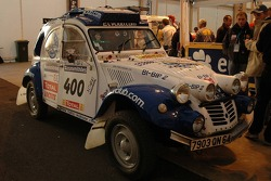 The Citroën Mehari 2CV Club Cassis of George Marquis and Cyril Ribas at scrutineering