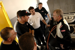 Ricky Rudd chats with crew chief Butch Hylton