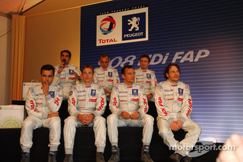 Press conference: Jacques Villeneuve, Marc Gene, Pedro Lamy, Éric Hélary, Stéphane Sarrazin, Nicolas Minassian and Sébastien Bourdais