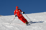 Kimi Raikkonen on ski