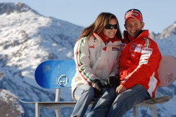 Casey Stoner with Adriana