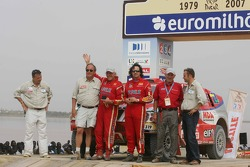 Car category podium: Yvan Muller and René Metge