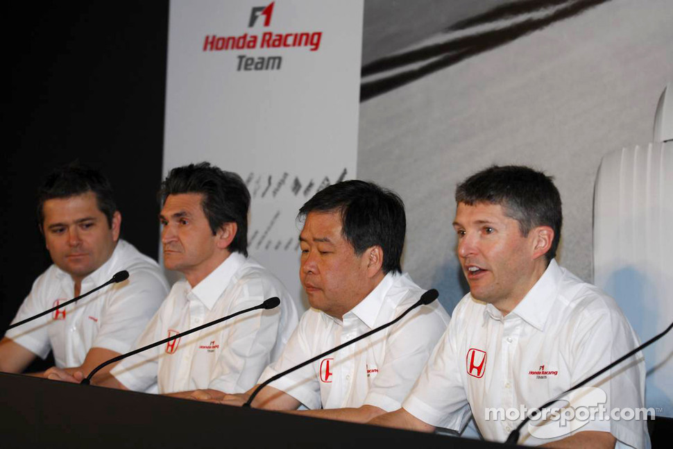 Nick Fry, Chief Executive Officer, Shuhei Nakamoto, Senior Technical Director, Jacky Eeckelaert, Chief Engineer, Gil de Ferran, Sporting Director