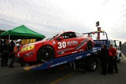 #30 Racers Edge Motorsports Pontiac GXP.R back on platform truck