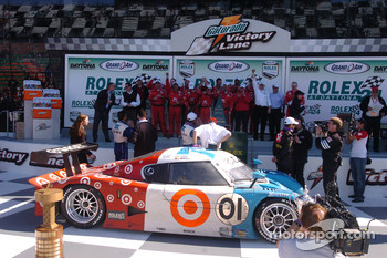 DP Podium: Celebration for the TELMEX Chip Ganassi with Felix Sabates team