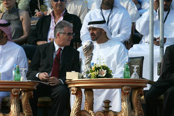 Piero Lardi Ferrari with His Highness Sheikh Mohammed Bin Zayed Al Nahayan