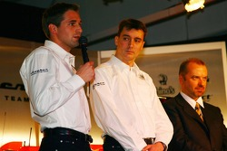 Christijan Albers, James Key, Spyker F1 Team, Technical Director and Mike Gascoyne, Spyker F1 Team, Chief Technology Officer