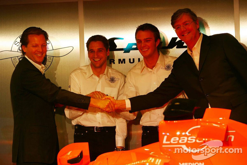 Michiel Mol, Christijan Albers, Giedo van der Garde and Victor Muller