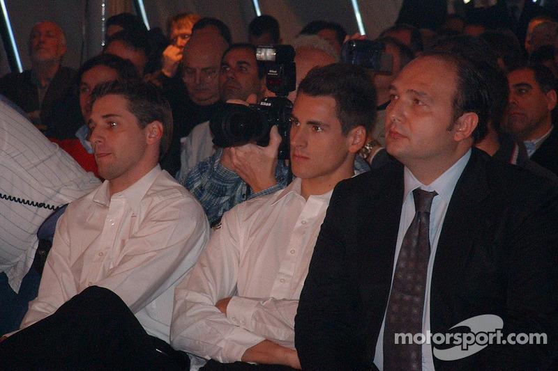 Christijan Albers, Adrian Sutil and Colin Kolles