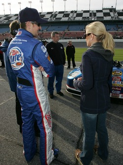 Kurt Busch with wife Eva