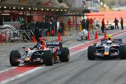 Vitantonio Liuzzi and Mark Webber