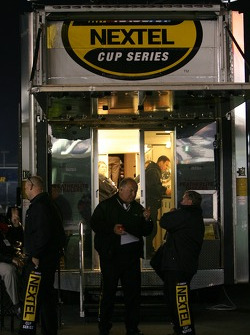 Activity and discussions about the #24 Dupont Chevy at the NASCAR trailer
